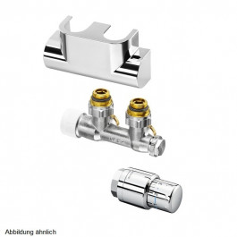 Oventrop Anschluss-Set Multiblock T Eck Edelstahl 1184384