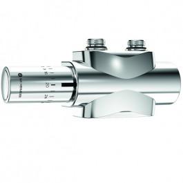Heimeier Multilux 4-Eclipse-Set Halo Anschlussarmatur mit Durchflussregelung, chrom 9690-59.800
