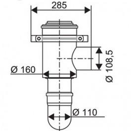 Bosch konzentrisches Kesselanschlussstück 7736603383