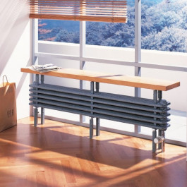 Arbonia Bank-Radiator 5-Säuler H: 27 L: 200 cm Modell 6F5200-A68