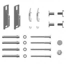 Kermi Wandkonsolen Set kurz Verteo Typ 10 #ZB02680002