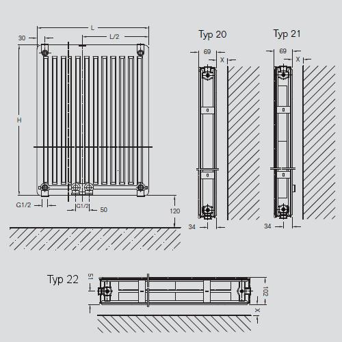 buderus flachheizk rper cv plan typ 22 7728706603 w. Black Bedroom Furniture Sets. Home Design Ideas