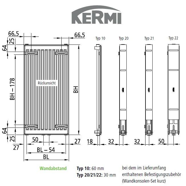 kermi heizk rper verteo profil fsn101800501x3k w. Black Bedroom Furniture Sets. Home Design Ideas