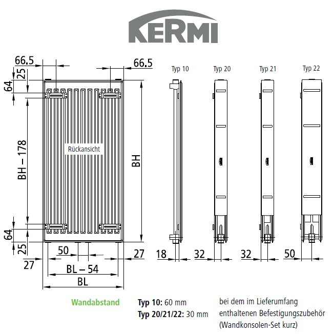 kermi heizk rper verteo typ 10 h 180 l 70 cm fsn101800701x3k w. Black Bedroom Furniture Sets. Home Design Ideas