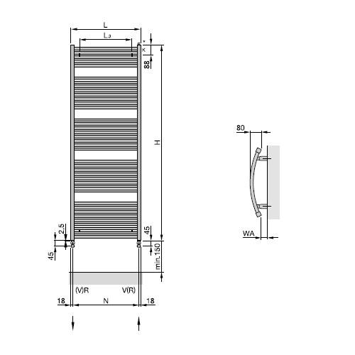 zehnder zeno t zz300360b100000 w. Black Bedroom Furniture Sets. Home Design Ideas