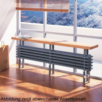 Arbonia Bank-Radiator 4-Säuler H: 22,5 L: 150 cm Modell 5F4150-A12