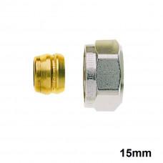 Heimeier Klemmverschraubung für Kupfer- und Stahlrohr  15 mm 383115351