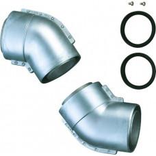 Bosch 2 Doppelrohrbögen 45 Grad d: 80/110mm 7719001142