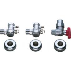 Bosch 2x Wartungshähne R 1'' 1x Gashahn R 3/4'' 7719001817
