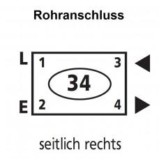 Kermi Anschlussbild 34 - seitlich rechts KERM432