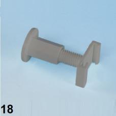Arbonia Distanzhalter komplett grau 18mm ZB02850002